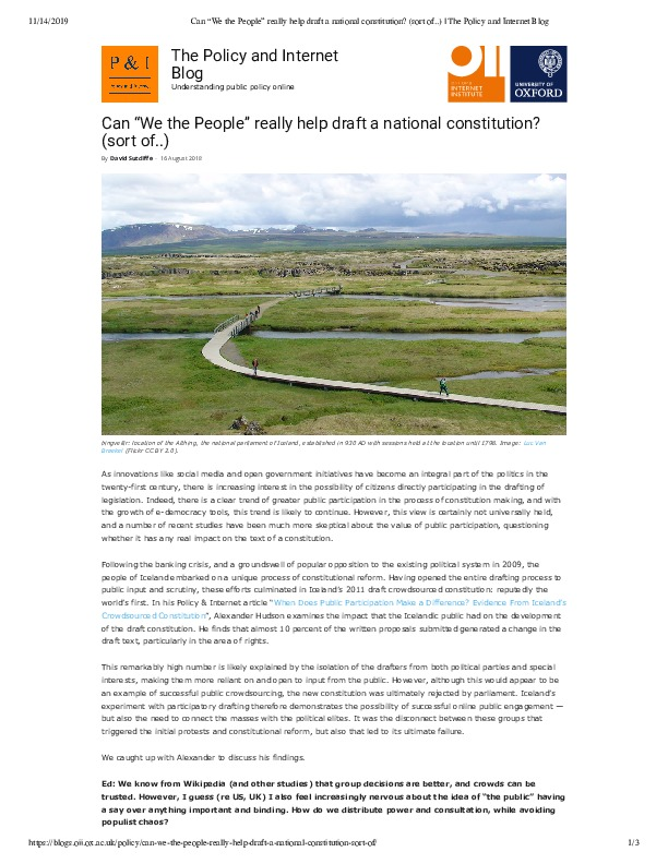 """Can """"We the People"""" really help draft a national constitution_ (sort of..) _ The Policy and Internet Blog.pdf"""