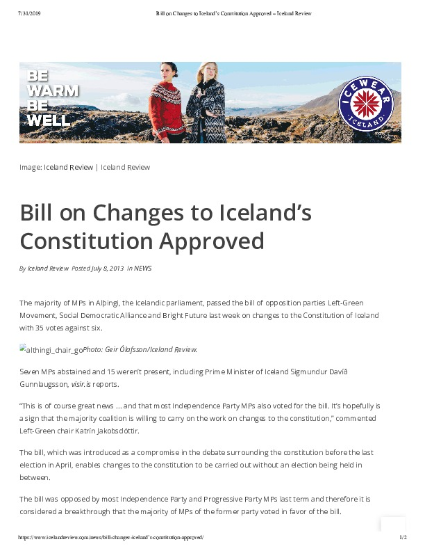 Bill on Changes to Iceland's Constitution Approved – Iceland Review.pdf