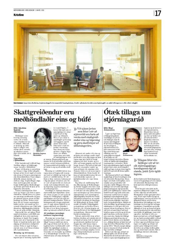 Birgir Ármannsson Unacceptable proposal on CC Mbl 010311.pdf