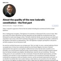 About the quality of the new Icelandic constitution - the rst part.pdf