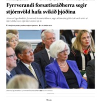 Fyrrverandi forsætisráðherra segir stjórnvöld hafa svikið þjóðina.pdf