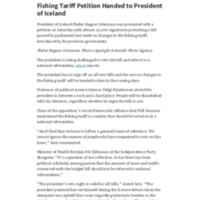 Fishing Tariff Petition Handed to President of Iceland – Iceland Review.pdf