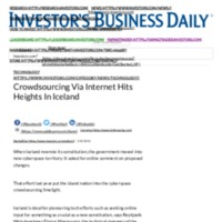 Crowdsourcing Via Internet Hits Heights In Iceland _ Investor's Business Daily.pdf