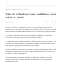 Voters in Iceland back new constitution, more resource control - Reuters.pdf