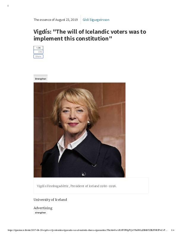 Vigdís_ _The will of Icelandic voters was to implement this constitution_ (1).pdf