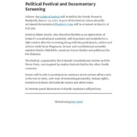 Political Festival and Documentary Screening – Iceland Review.pdf