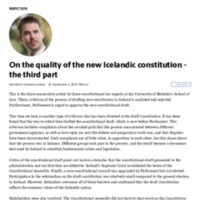 About the quality of the new Icelandic Constitution - Part Three - Indicator.pdf