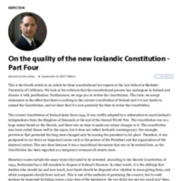 On the quality of the new Icelandic Constitution - Part Four.pdf
