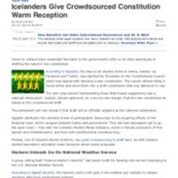 Icelanders Give Crowdsourced Constitution Warm Reception _ News _ TechNewsWorld.pdf