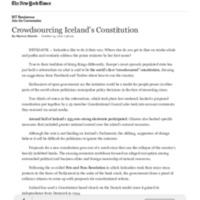 Crowdsourcing Iceland's Constitution - The New York Times.pdf